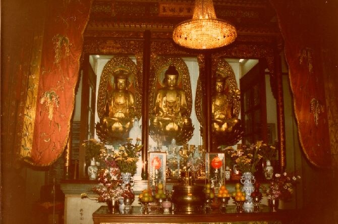 Buddhistischer Tempel in China, Photo Herbert Eckhard, Dojo St. Albans Australien