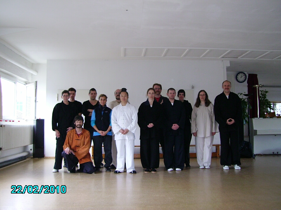Februar 2010. Gruppenphoto vom 3. Hsing Seminar mit Wudangmeister Yuan Liming im Tao Chi Duisburg