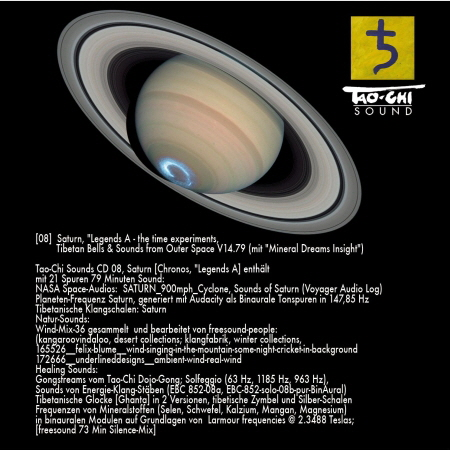 "Saturn ""Legends A - the time experiments - Tibetan Bells and Sounds from Outer Space"